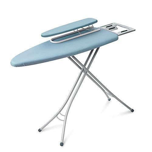 LHQ-HQ Tabla de Planchar Tabla de Planchar Plegable del hogar Trípode Reforzado Engranaje de Ajuste Antideslizante del pie Cubierta for el hogar Tabla de Planchar (Color: Azul, tamaño: 110.5x33x7cm)