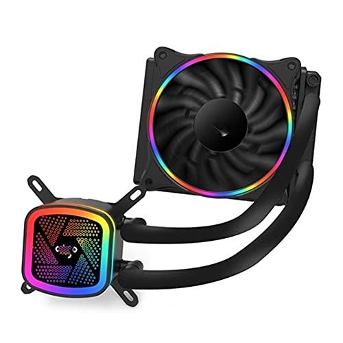 Funda de la PC Fan Cooler de Agua CPU Ventilador 120 mm T120 / 240 Agua Enfriamiento de Calor Integrado Clooer Radiador de enfriamiento LGA 115x / 2011 / AM4 (Blade Color : V120 clack)