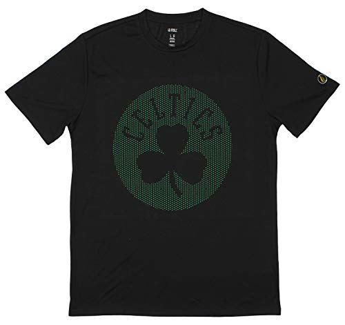 FISLL NBA Men's Short Sleeve Perforated T-Shirt, Boston Celtics- Black XX-Large
