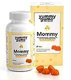 Yummygums Mommy - Die einzigen Vitamine für Kinderwunsch & Schwangerschaft in Fruchtgummi Form - Enthält 15 Vitamine und Mineralien, wie Folsäure, Biotin, Vitamin B12 – Monatspackung mit 90 Gummies