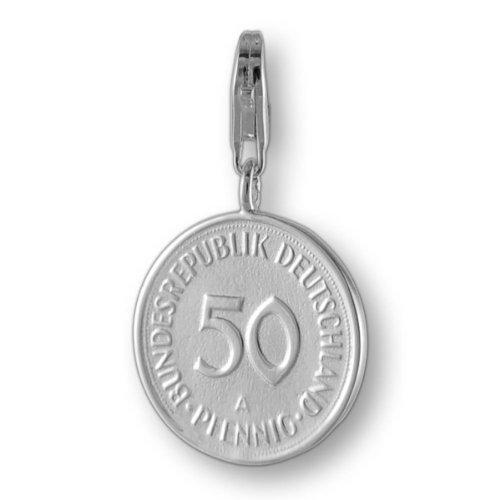 Melina Damen-Charm Anhänger 50 Pfennig 925 Sterling Silber 1800681