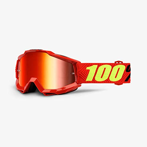 100% ACCURI Brille Saarinen - Spiegel Linse, Rot , Größe One Size