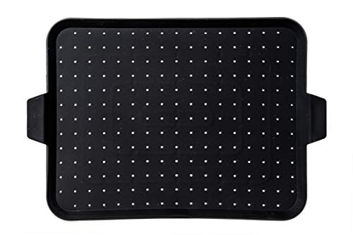 Beckon Ware Silicone Baking Rack - Multi-Use Silicone Baking Pan, Grease Splatter Screen, Drain Board and Electric Skillet Cover. Food Safe, Heat Resistant, Non-Stick Silicone Baking Mat, 16x12 inch