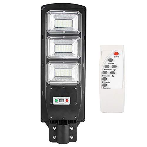 Zoternen Luz Solar 180LED con Sensor Crepuscular Impermeable 90W Iluminación para Farola con Control Remoto Iluminación de Caminos Porche 5500K