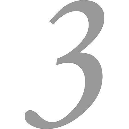 Ziffer zum Aufkleben f/ür Au/ßen 0 in schwarz I H/öhe 50 cm I selbstklebende Haus-Nummer Zahlen-Aufkleber Nr T/ür I wetterfest I kfz/_475/_0