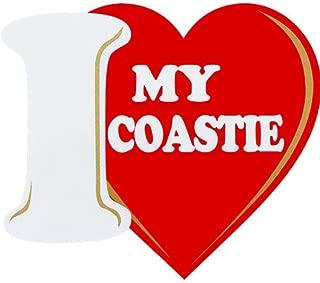 I Love My Coastie Clear Decal