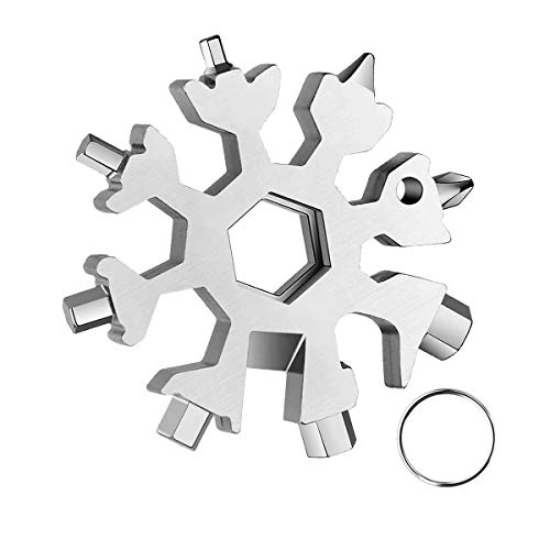 20 In 1 Snowflake Multi-Tool ,Great Christmas stocking stuffer,Unique Gifts for Dad Men Women