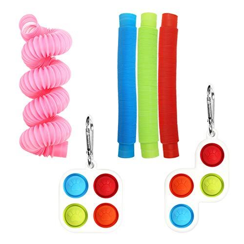 PLTyfsail Juego de juguetes fidget para aliviar el estrés, alivio de la ansiedad, juguetes especiales para regalos de fiesta de cumpleaños, recompensas para el aula escolar, premios de carnaval (C)