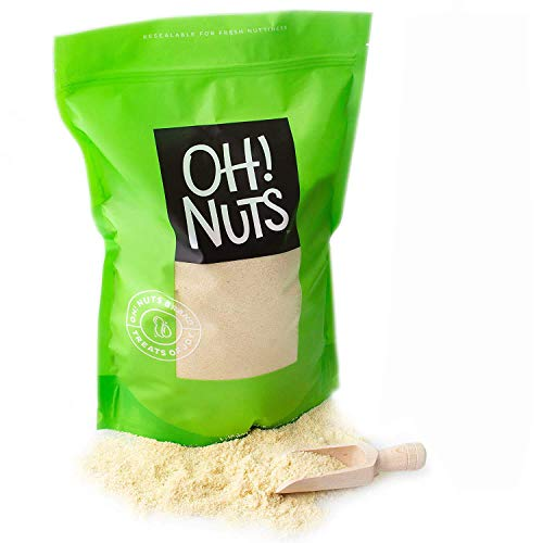 Oh! Nuts Blanched Almond Flour | Gluten-Free, Extra Fine Baking Delights | 5lb All-Natural Wheat Substitute | Dried Food Healthy Pantry Items | All-Purpose Kosher, Vegan, Paleo and Keto Friendly Diets
