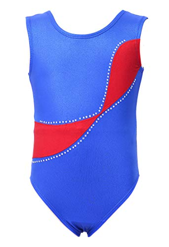 Dancina Girls Gymnastics Tank Top Leotard Dancewear 8 Red Swoosh
