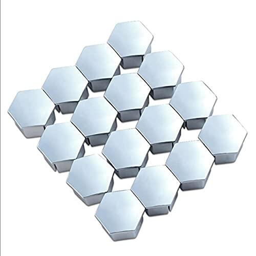 16 Uds 19mm tapa de tornillo de neumático métrica tapa de perno hexagonal para Peugeot 307, 308, 408, 206, 207, tuerca de rueda, decoración de la cubierta del borde