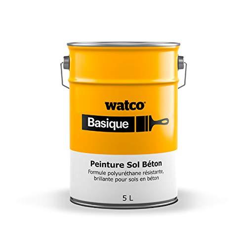 Watco Basique Peinture Sol Béton Polyuréthane Résistante et Brillante pour Béton Bois Métaux...
