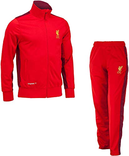 Liverpool F.C. Trainingsanzug - Jacke & Hose - Original Mit Offizieller Lizenz Tracksuit Trainingshose (S SMALL)