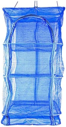 13 8inch Blue 3 Layer Non Toxic Nylon Netting Collapsible Mesh Hanging Drying Dry Rack Net Food product image