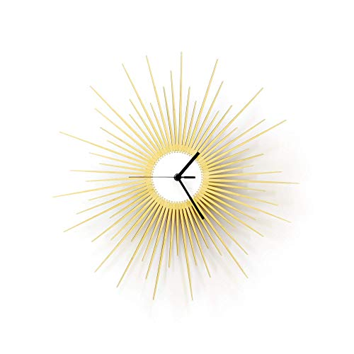 16' / 23½' Stylish Sunburst Wooden Wall Clock with...
