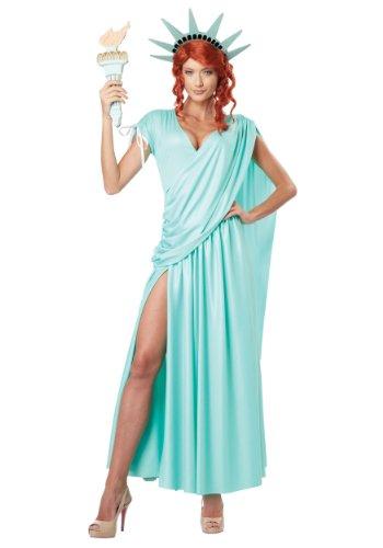 Disfraz de estatua de la libertad para mujer talla grande