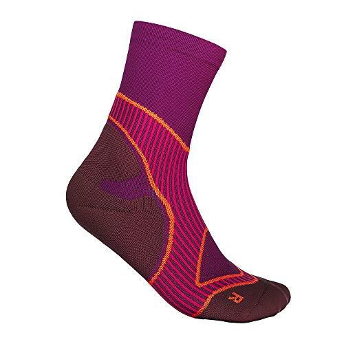 BAUERFEIND Laufsocken Run Performance Mid Cut Socks für Laufen & Fitness, 1 Paar Sportsocken mit Funktionszonen (Infinity Zone Technologie), Laufstrumpf für Damen, Funktionssocken