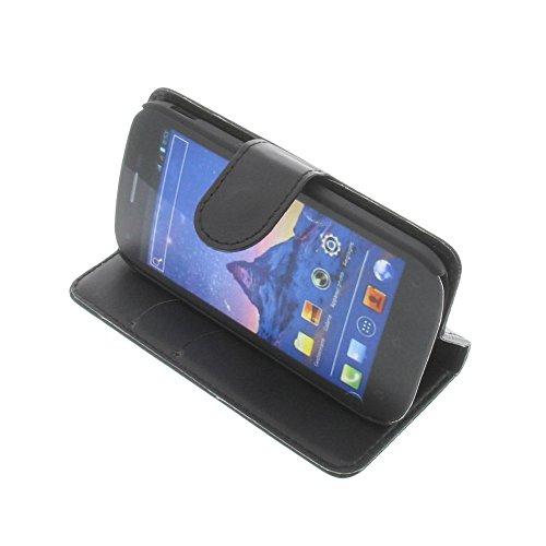 foto-kontor Tasche für Wiko Cink Peax 2 Book Style schwarz Kreditkarte Schutz Hülle Buch