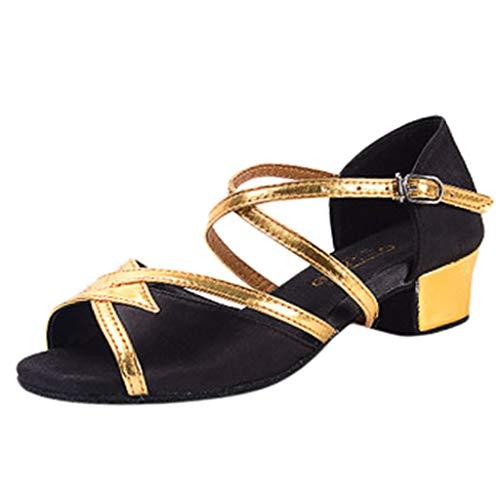 Sandalias niña Verano,Subfamily- Zapatos Bailarinas Zapatos de Fiesta Comodos Zapatos Dorados niña, Zapatos de Vestir para niñas Zapatos niña Online,Zapatos Chinos,niña de 4 a 14 años