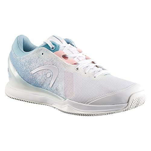 HEAD Sprint Pro 3.0 Clay Women RSWH, Zapatillas de Tenis Mujer, Blanco y Azul Claro, 39 EU