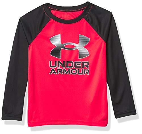 Under Armour Boys' UA Symbol Raglan LS, Versa Red, 4T