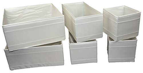 Ikea SKUBB-Box, 6er-Set, weiß