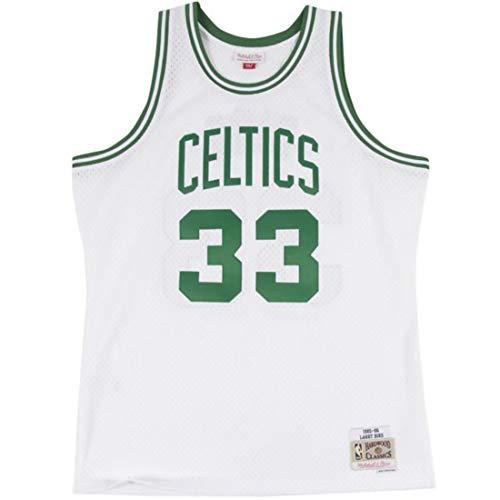 Mitchell & Ness Classic Swingman Boston Celtics #33 Larry Bird Basketballtrikot weiß/grün, XL