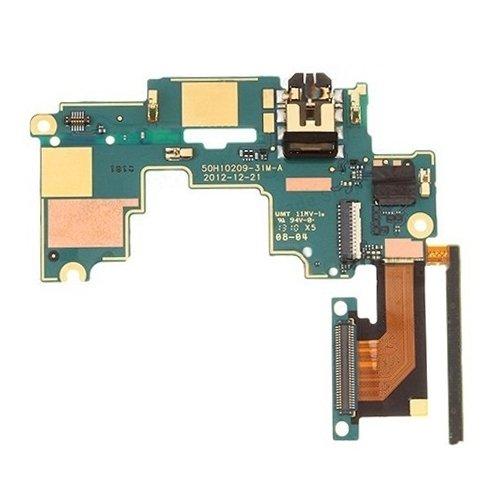 jingtingmy Fijar Las Piezas del teléfono renovar IPartsBuy Placa Base y Volumen Botón de Control/Auriculares Jack Flex for HTC uno M7 / 801E / 801n Accesorios
