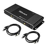 HDMI KVM スイッチ 4ポート KVMセレクター 4×1 KVM切替器 4入力1出力 PC 切り替え 4K60Hz usb2.0 高速 Kvm Switch HDMI2.0 HDCP2.2 HDR10対応 PC HDTV IRリモコン付 音声分離対応 キーボード マウス用パソコン TESmart® (4ポート)