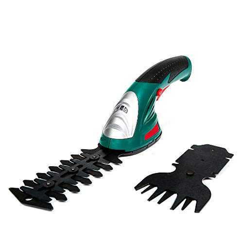 Great Price! JMFHCD 7.2 V 2-in-1 LED Cordless Grass Shear Shrubber Trimmer Rechargeable Handheld Ele...
