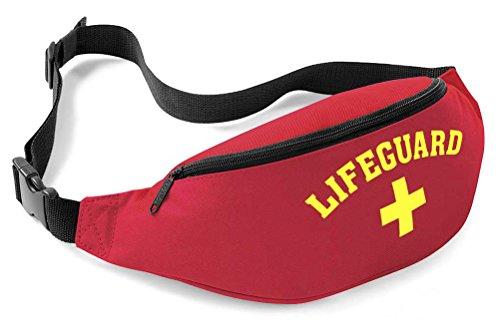 Rettungsschwimmer, Gürtel / Bauchtasche Gr. Eine Größe, rot/ gelb