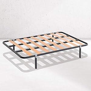Dreaming Kamahaus SOMIER de lámina Ancha Estructura de 30x30 | Láminas de Chopo | con Patas cuadradas 27 cm | Fabricado en España |105 x 190 cms.|