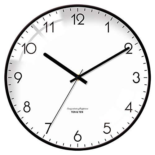CHENSHENG Reloj automático de luz de Fondo de Escritorio Estante de la Pared decoración del hogar del Reloj de Pared Simple Alarma de Temperatura (Color : 1, Sheet Size : 12 Inches)