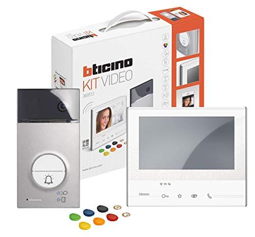 BTicino 363911 Kit Videocitofono Vivavoce Monofamiliare, Bianco