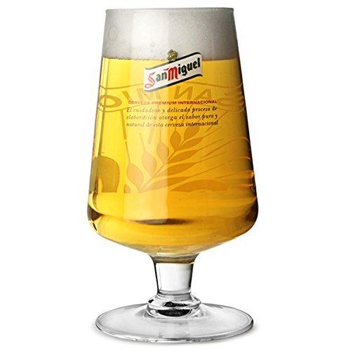 SAN MIGUEL vaso de pinta exclusiva producto oficial Brasserie marca, cristal endurecido, CE - nuevo vaso de pinta con texto grabado.