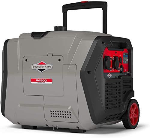 Briggs & Stratton 030806 Benzin Inverter Stromerzeuger Generator der PowerSmart Serie P4500 mit 4500 Watt/3700 Watt sauberem Strom, ultraleise und leichtgewichtig, W, 230 V