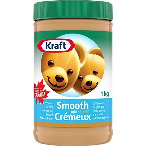 KRAFT Peanut Butter, Light Smooth, 1 Kg