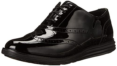 Cole Haan Women's ORIGINALGRAND Wingtip Oxford, Black Patent Leather/Black, 11