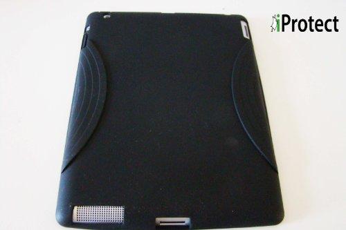 iProtect Apple - Carcasa de silicona para iPad 2, color negro