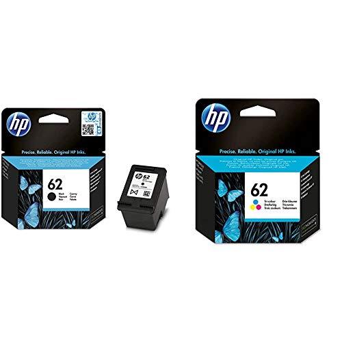 HP 62 Pack de 2 Cartouches Authentiques d'Encre Noire/Trois Couleurs pour HP Envy 5540/5640/7640