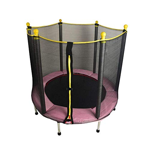 Rebounder Trampolines 50Inch Trampoline With Safety Net Enclosure & Foam Pad For Children's Indoor And Outdoor Leisure Trampoline Home Baby Bounce Bed Max Load 150kg Fitness Trampoline Exercise Equipm