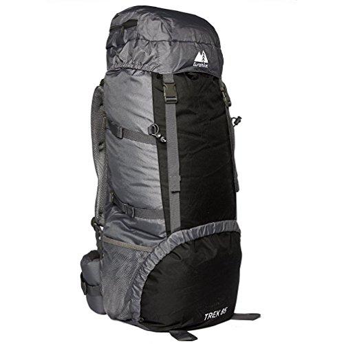 Eurohike Trek 85L Backpack, Black, One Size