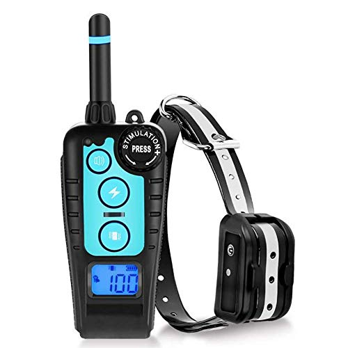 TEMEISI Dog Training Collar, 1800ft Remote Dog Shock Collar, IPX7 Waterproof and Rechargeable Training Collar with Beep, Vibration, Shock Electronic Collar Modes for Small Medium Large Dog