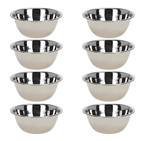 Unbekannt 8X kleine Schüsseln aus Edelstahl, stapelbar/Metall Servierschalen für Snacks, Dips, Dessert (8 pcs Ø 10 cm)