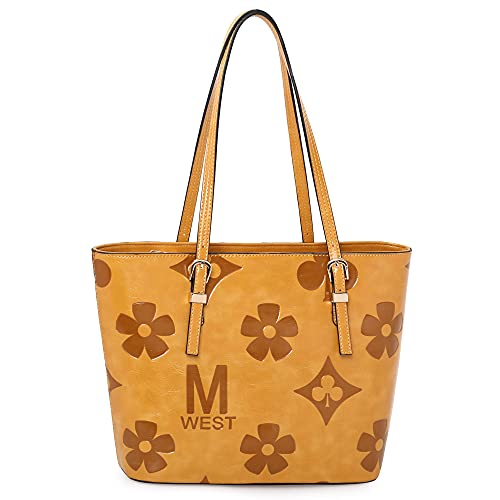 Montana West Concealed Carry Purses Handgun Tote Foldable Laptop Bag Monogram Must Yellow MWC-G018MSY