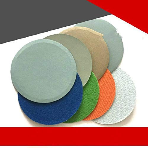 YJRIC papel de lija 10PCS 5 pulgadas 125MM Flocado ImpermeablePapel de lija abrasivo Disco de lijado Gancho Loop 800 a 10000 Granos Autoadhesivo Wet & amp;Seco, 2500