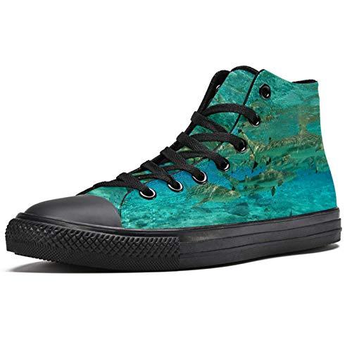 LORVIES - Zapatillas deportivas de tela para hombre, (multicolor), 38 EU