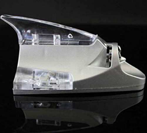 W-Nuanjun-haai 14cm Auto Haai Vin Antenne LED Wind Vermogen Verlichte Luchtdak Stickers Decoratie Voor Peugeot 206 207 208 301 307 308 407 2008 3008
