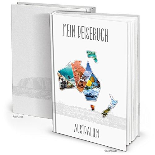 Logbuch-Verlag SET 6 XXL Reisetagebuch AUSTRALIEN Reisebuch Notizbuch zum Selberschreiben BUCH LEER Geschenk Weihnachten Geburtstag Reisen Tagebuch