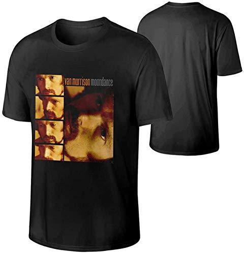 Van Morrison Men's Short Sleeve CrewneckT-Shirt,Soft and Comfortable Black